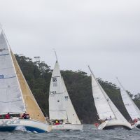 2018 03 04 5 PHS Non Spinnaker division sails to windward in the blustery wind   Andrea Francolini pic
