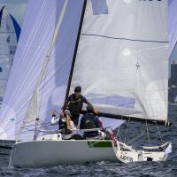 2 J70 s cut and thrust   Andrea Francolini pic   Sydney Harbour Regatta   low res