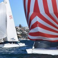 4 MHYC boats Lumine Lunae and Contentious racing on Sydney Harbour 2017 09 09  0528